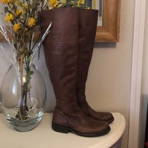 Steve Madden over the knee leather riding boots 7
